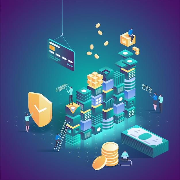 Banca online. transazione di sicurezza dei pagamenti online.