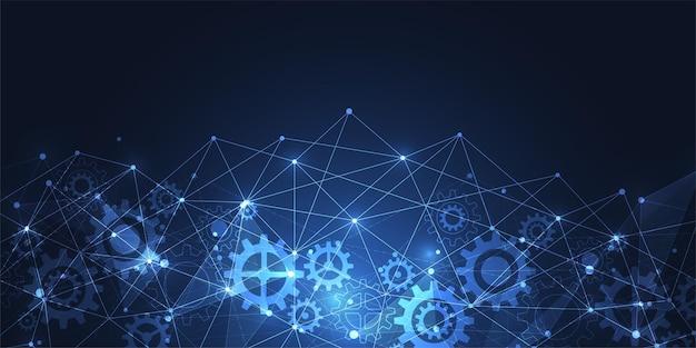 Connessione a internet, senso astratto della scienza e della tecnologia sfondo grafico. illustrazione vettoriale