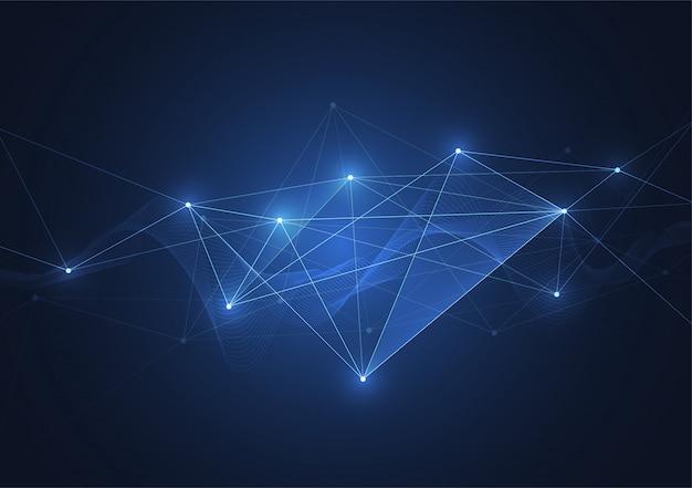 Connessione internet, senso astratto della scienza e della tecnologia grafica