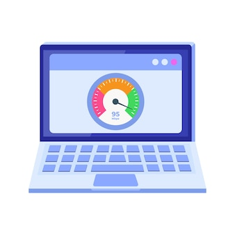Download da internet concetto di test di velocità