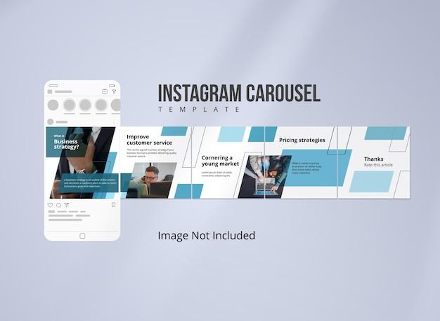 Modello di post carosello instagram di marketing su internet