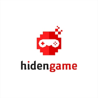 Mascotte di internet divertente testa ninja pixelata