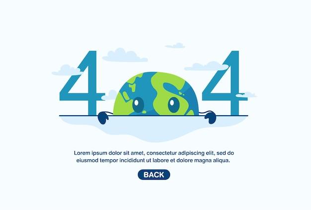 Avviso di rete internet 404 pagina di errore o file non trovato per la pagina web