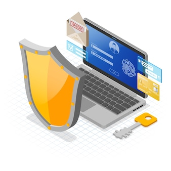 Banner di protezione dei dati personali su internet