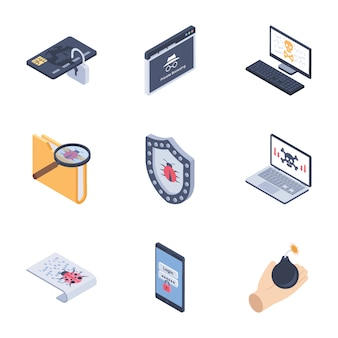 Internet security icons pack