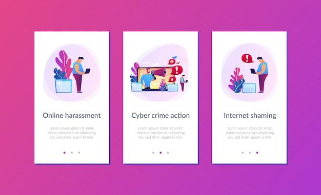 Modello di interfaccia app internet shaming.