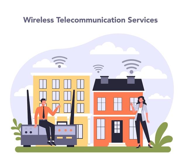 Settore dei servizi di telecomunicazione internet dell'economia