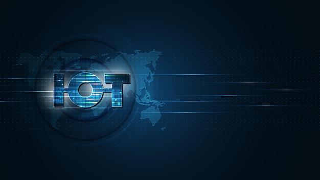Internet delle cose. concetto di connettività iot. sfondo della tecnologia di connessione globale della rete