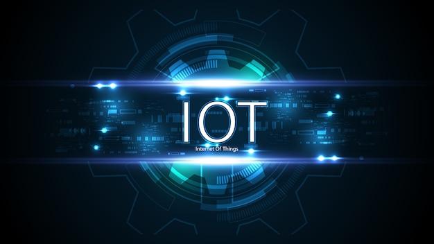 Internet delle cose. concetto di connettività iot. sfondo di tecnologia di connessione globale di rete