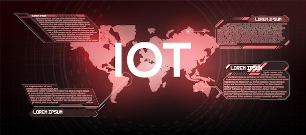 Internet of things (iot) e concetto di rete per dispositivi connessi. connessioni di rete digitali, il concetto di connessione di dispositivi utilizzando la tecnologia iot. ict (information communication technology)