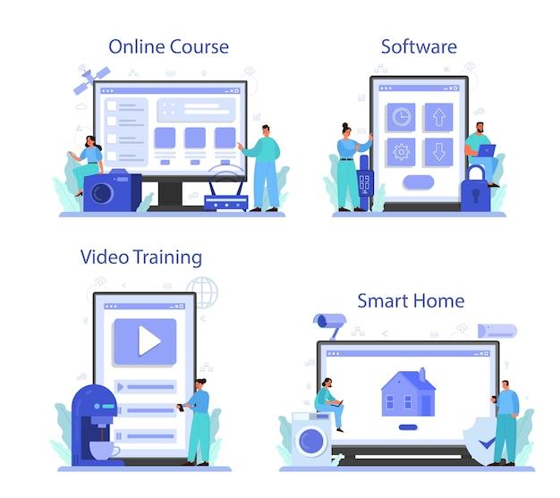 Servizio online di internet of things o set di piattaforme