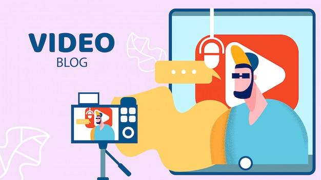 Internet video blog