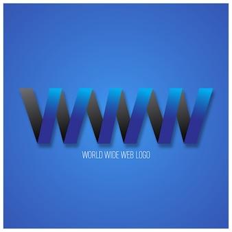 Internet world wide web logo vettoriale
