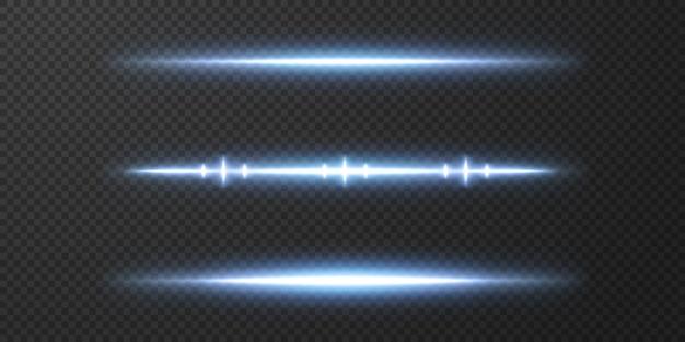 Presentazione degli effetti dei set di luci al neon vettoriali