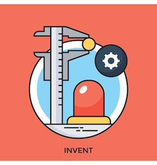Inventa icona vettoriale piana