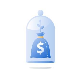 Investire fondi, investimenti a lungo termine, crescita del reddito futuro, allocazione del capitale