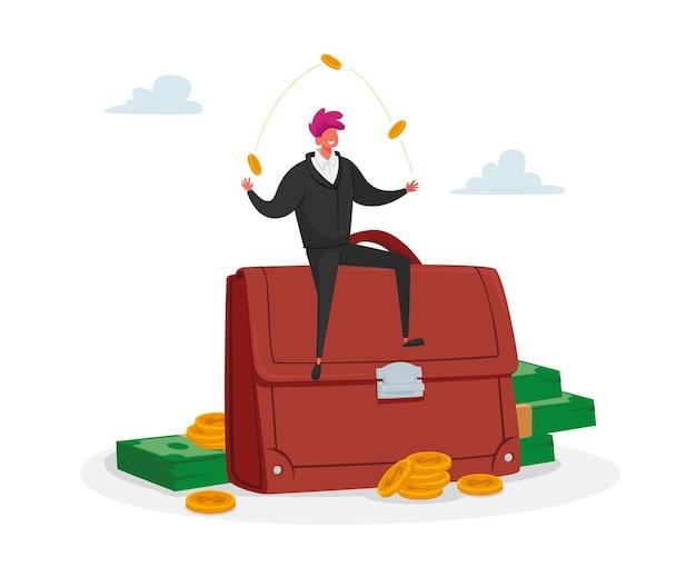 Investire portafoglio, concetto di trading del mercato azionario