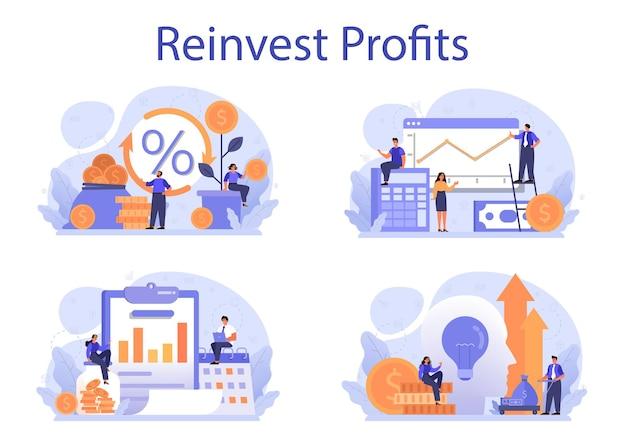 Investire i profitti aziendali in un nuovo concetto di progetto