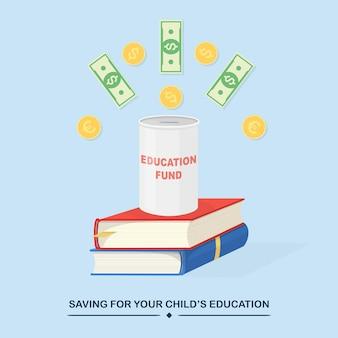 Investire denaro in un fondo per l'istruzione