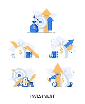 Insieme dell'illustrazione di analisi degli investimenti