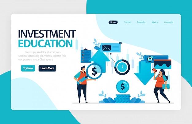 Pagina di destinazione per la formazione agli investimenti