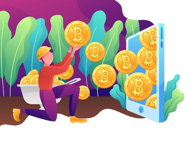 Investimento, finanza e commercio, cripto minerario