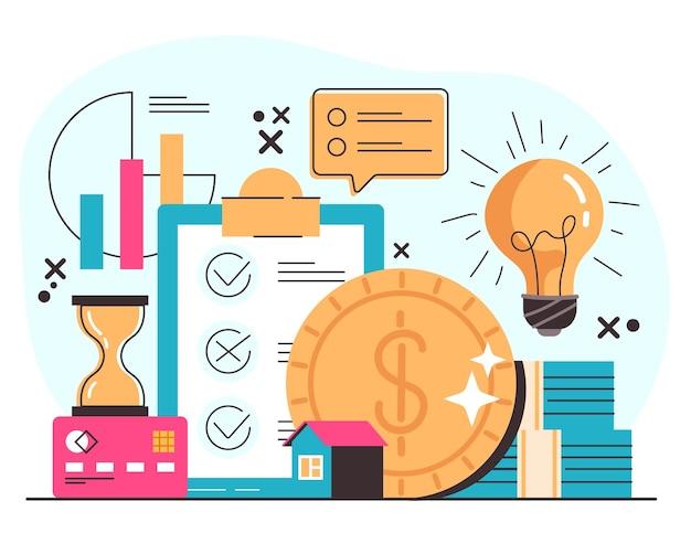 Concetto di aumento di profitto di successo di affari di denaro di investimento