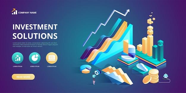 Soluzioni di investimento soluzioni di commercio per l'analisi degli investimenti