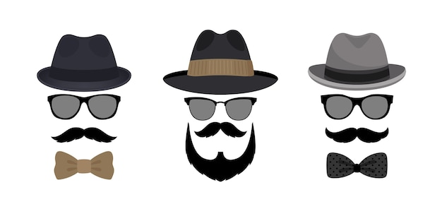 Occhiali e baffi cappello uomo invisibile.
