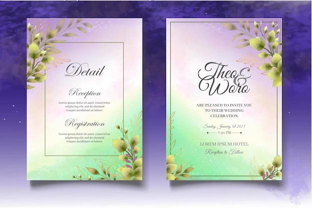 Set di biglietti d'invito con bellissime rose
