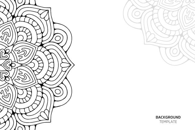 Carta di invito con backgraund ornamento floreale