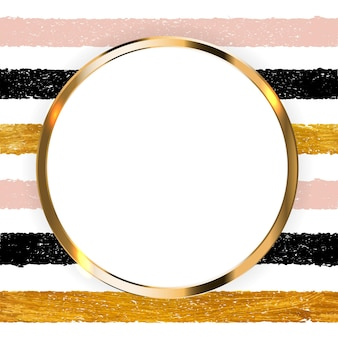 Invito con vernice oro scintillante arte testurizzata e cornice su sfondo trasparente