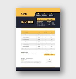 Invoice tamplete e bill invoice design
