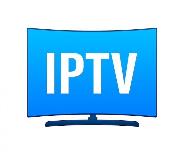 Badge iptv, icona, logo. illustrazione.