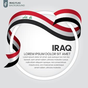 Illustrazione vettoriale di bandiera del nastro dell'iraq su sfondo bianco