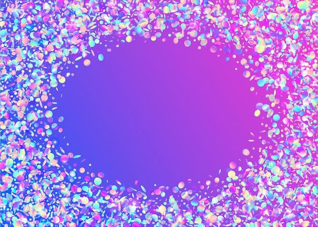 Trama iridescente. tinsel di sfocatura rosa. scoppio in discoteca. scintille trasparenti. pellicola volante. glitter di compleanno. arte surreale. illustrazione realistica del metallo. texture iridescente viola