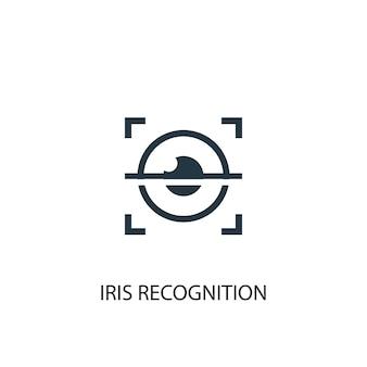 Icona di riconoscimento dell'iride. illustrazione semplice dell'elemento. disegno di simbolo del concetto di riconoscimento dell'iride. può essere utilizzato per web e mobile.