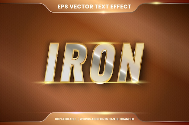 Effetto testo argento ferro e oro modificabile
