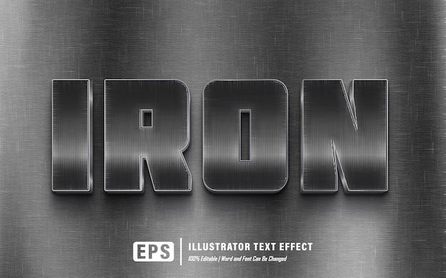 Effetto testo in ferro - modificabile