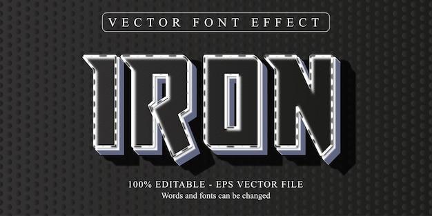 Testo in ferro, effetto di testo modificabile in stile neon