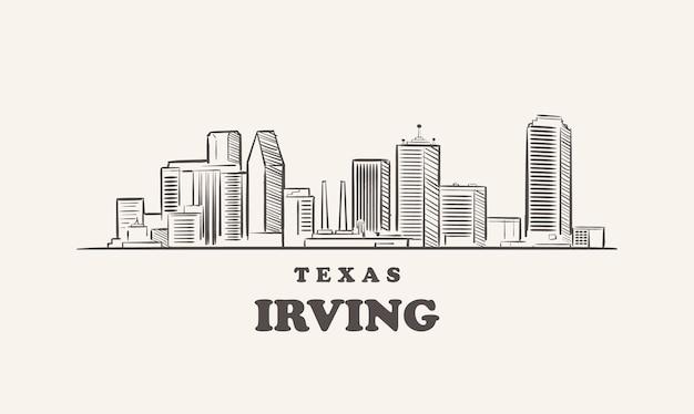 Orizzonte di irving, texas bozzetto