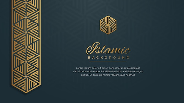 Arabo islamico blu dorato ornamento arabesque bordo dello sfondo