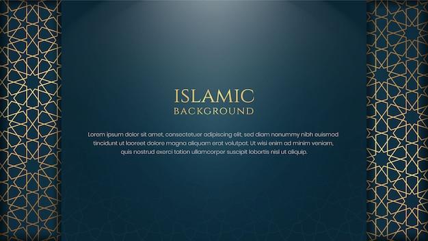 Estratto dorato blu di stile arabo islamico