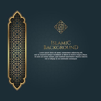 Priorità bassa dorata dell'ornamento di stile arabo islamico