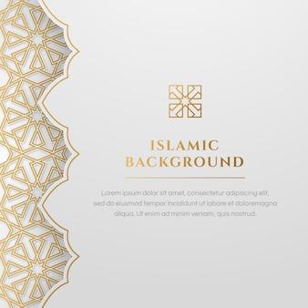 Arabesco islamico bianco arabesque dorato elegante sfondo