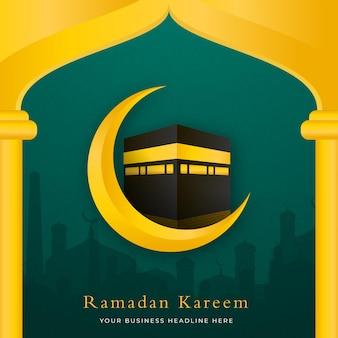 Design del modello di sfondo islamico con stile arabo