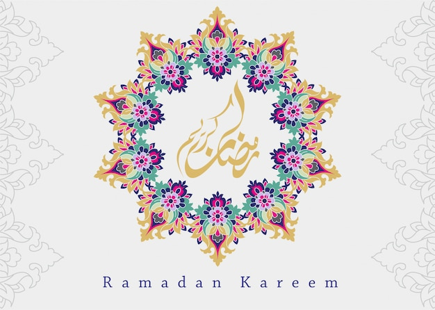 Sfondo islamico con stile ornamento