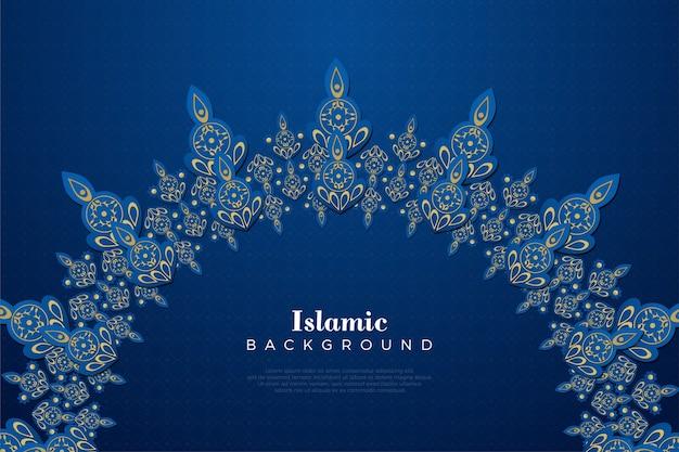 Sfondo islamico con un design semplice e moderno.