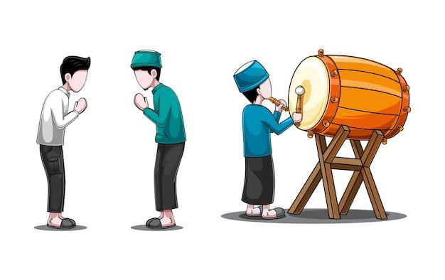 Illustrazione del concetto di set di caratteri islamici