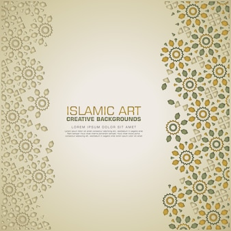 Sfondo creativo islamico con mosaico colorato